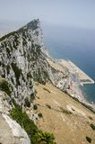The rock of Gibraltar, Europe. The semi-wild Barbary Macaques, Gibraltar, Europe stock image