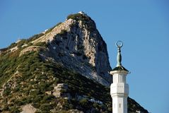 The Rock of Gibraltar. Stock Photo