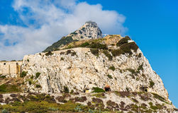 Rock of Gibraltar seen from Europa Point Royalty Free Stock Photo