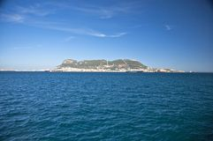 The rock of gibraltar side. Bay of algeciras and gibraltar in andalusia spain Royalty Free Stock Photography