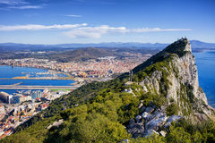 Rock of Gibraltar. In southern part of Iberian Peninsula Royalty Free Stock Photography