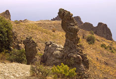 Rock  Gingerbread horse is a figure of weathering. Kara-Dag. Crimea Royalty Free Stock Images
