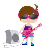 Rock girl Royalty Free Stock Photography