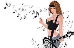 ROCK GIRL Stock Images