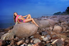 Rock girl Royalty Free Stock Photo