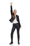 Rock Girl Hand Sign Royalty Free Stock Image