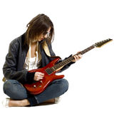 Rock girl playing Stock Photos