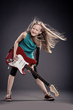 Rock girl Royalty Free Stock Photo