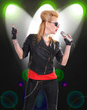 Rock girl singer Royalty Free Stock Photos