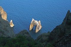 Rock 'Golden Gates'. In sea. Koktebel. Ukraine Royalty Free Stock Image