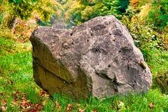 Rock, Grass, Vegetation, Boulder royalty free stock photos