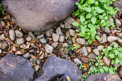 Rock and gravel Royalty Free Stock Photography