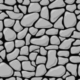Stone wall seamless pattern background. Rock gray stone wall seamless texture. Rock stonewall background Stock Photo