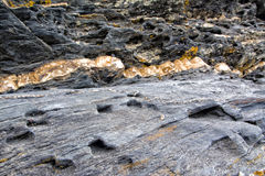 Rock. Great rock formation on the beach royalty free stock images