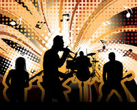 Rock group. Singers theme. Vector illustration for design use Stock Photos