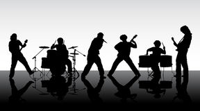 Rock group. Royalty Free Stock Photography