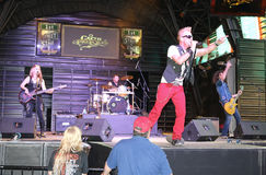 Rock group. Performing at the Fremont Street in Las Vegas Stock Image