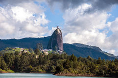 Rock of Guatape near to Medellin in Colombia Royalty Free Stock Image
