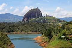Rock of Guatape, Piedra De Penol, near Medellin, Colombia. South America stock photography