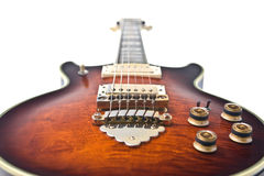Rock guitar. Isolated on the white background Royalty Free Stock Photo