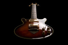 Rock guitar. Isolated on the black background. Shot in low key Stock Photo