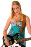 Rock Guitar Girl 1 Royalty Free Stock Photos