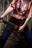 Rock Guitar Girl Royalty Free Stock Images