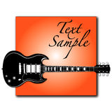 Rock guitar on label Stock Image