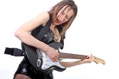 Rock guitar player Stock Images