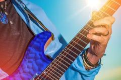 Rock Guitar Player Stock Photography