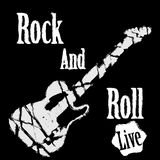 Rock guitar poster. Black and white Royalty Free Stock Photos
