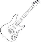 Rock guitar vector. Vector draw of a rock guitar Royalty Free Stock Image