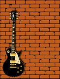 Rock Guitar Wall Royalty Free Stock Images