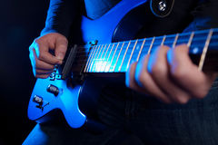 Rock guitarist stock photos