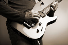 Rock guitarist Royalty Free Stock Photos