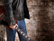 Rock guitarist Royalty Free Stock Photography