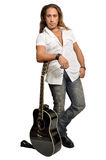 Rock guitarist Royalty Free Stock Photo