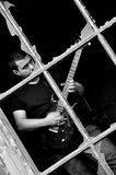 Rock guitarist Stock Images
