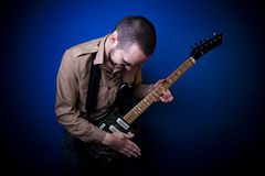 Rock guitarist Royalty Free Stock Images