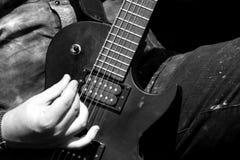 Rock guitarist Stock Image