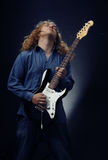 Rock guitarist Stock Photography