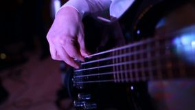 Guitar strings, rock guitarist, playing the electric guitar, stock video footage