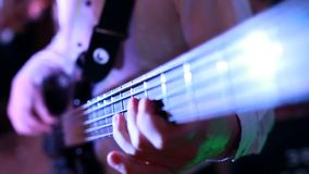 Guitar strings, rock guitarist, playing the electric guitar, stock footage