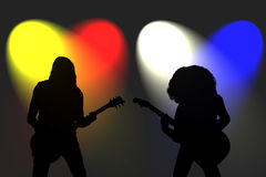 Rock guitarists Royalty Free Stock Images