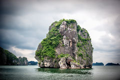 Rock in Ha Long Bay, Vietnam Royalty Free Stock Photos