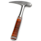 Rock Hammer  on White 3D Illustration Royalty Free Stock Photography