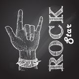 Rock hand. Abstract rock hand on special rock background Royalty Free Stock Photo