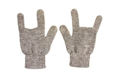 Rock hand glove. Hand glove fingers about rock music Royalty Free Stock Photography
