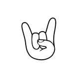 Rock. Hand sign of horns icon Royalty Free Stock Photography
