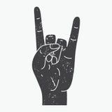 Rock Hand Royalty Free Stock Image